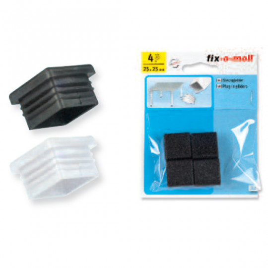 Embout chaise FIX-O-MOLL rentrant 30mmx30mm