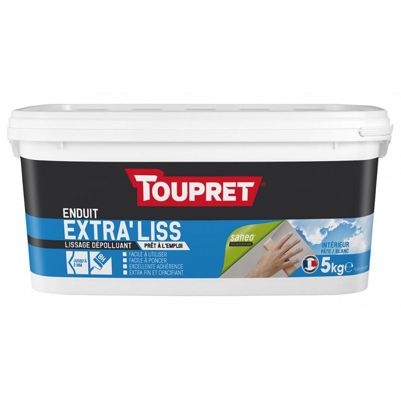 Enduit extra'liss pâte dépolluant TOUPRET gamme hautes performances 5kg