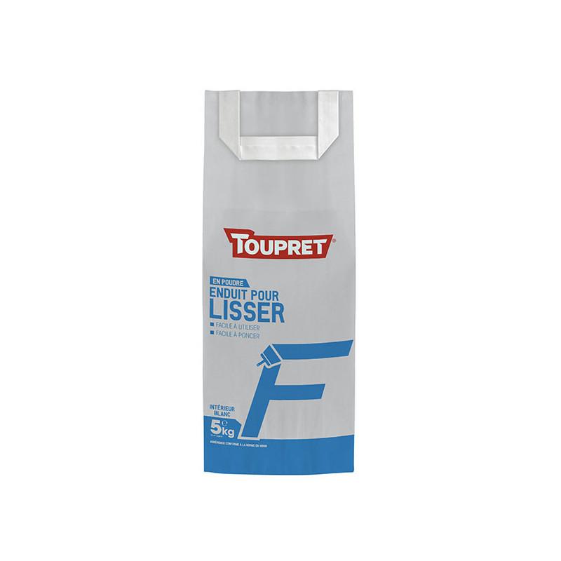 Enduit pour lisser F poudre TOUPRET gamme Basique & Chantiers 5kg