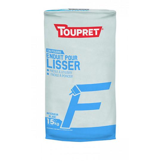 Enduit pour lisser F poudre TOUPRET gamme Basique & Chantiers 15kg