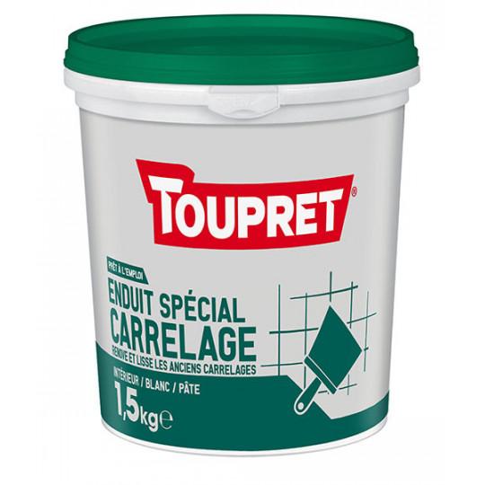 Enduit spécial carrelage pâte TOUPRET gamme Basique & Chantiers 1,5kg