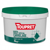 Enduit spécial carrelage pâte TOUPRET gamme Basique & Chantiers 4kg
