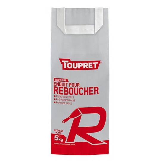 Enduit pour reboucher R poudre TOUPRET gamme Basique & Chantiers 5kg