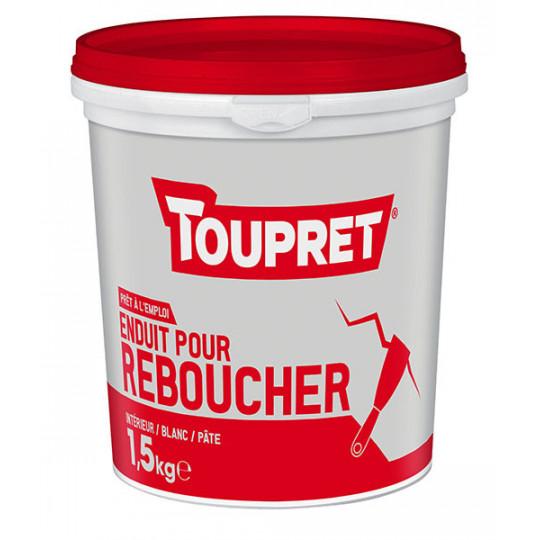 Enduit pour reboucher pâte TOUPRET gamme Basique & Chantiers 1,5kg