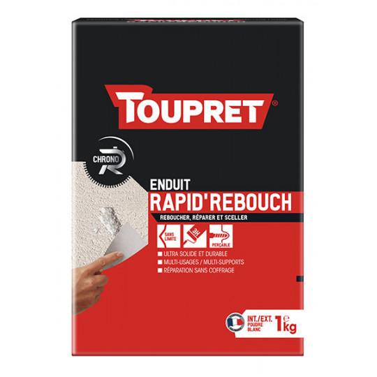 Enduit rapid'rebouch poudre TOUPRET gamme Hautes performances 1kg