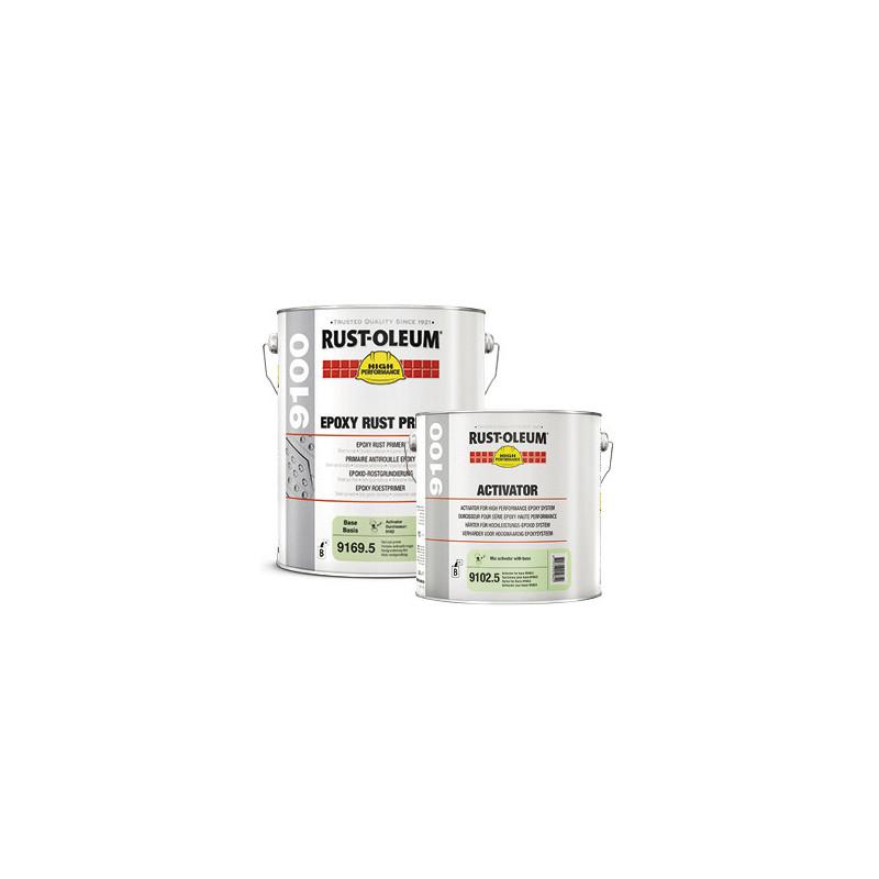 Primaire anti-rouille RUST-OLEUM Epoxy 9169 bi-composants rouge brun 5L (à mélanger avec durcisseur 9102.5)