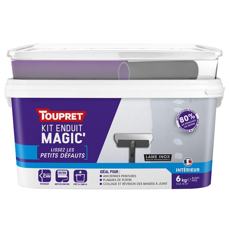 Enduit Magic'petits défauts pâte TOUPRET gamme hautes performances 6kg